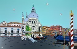 Venice, Grand Canal by Dylan Izaak -  sized 55x36 inches. Available from Whitewall Galleries